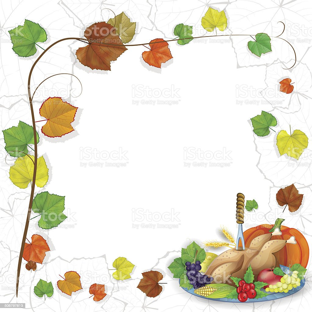 illustration of turkey, fruits and wine in Thanksgiving dinner royalty-free illustration of turkey fruits and wine in thanksgiving dinner stock vector art & more images of autumn