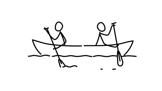 Illustration of two men in a boat. Vector. Each team in their own way. Conflict of interest. Metaphor. Contour picture. Leader race. Ambitions bosses. Illustration of two men in a boat. Vector. Each team in their own way. Conflict of interest. Metaphor. Contour picture. Leader race. Ambitions bosses. curiosity stock illustrations