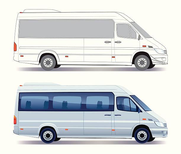 minibus - tour bus stock-grafiken, -clipart, -cartoons und -symbole
