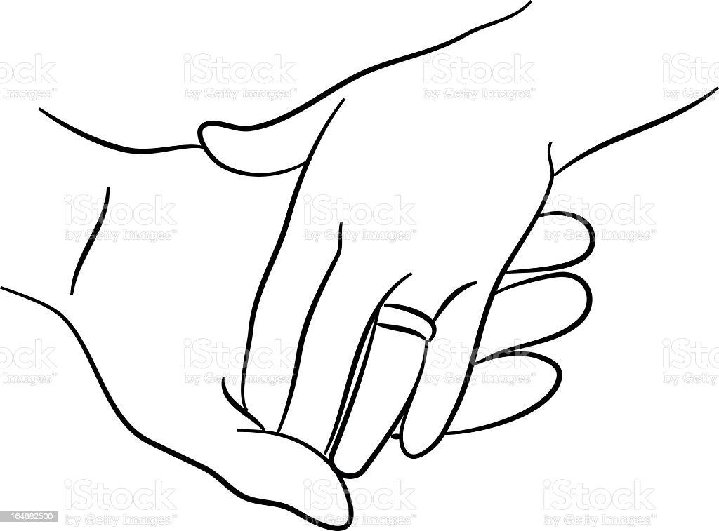 Toucher les mains - Illustration vectorielle