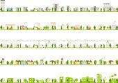 illustration of urban landscape,building,school,factory