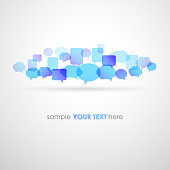Vector illustration Speech bubble network background. EPS 10