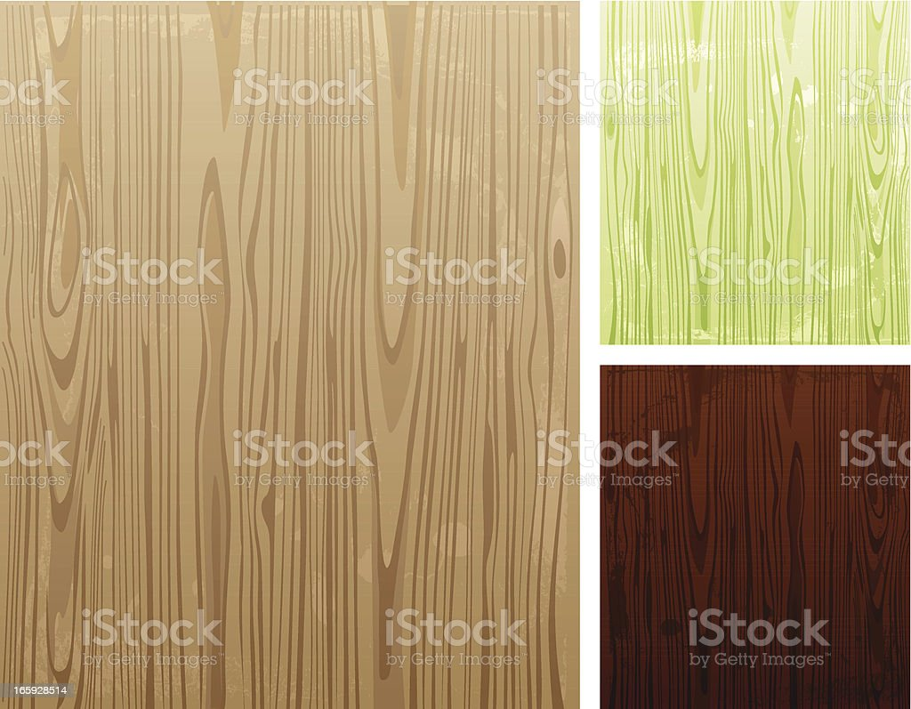 Illustration of various colored wooden backgrounds vector art illustration