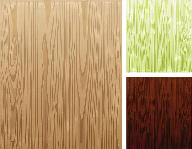 Illustration of various colored wooden backgrounds Wooden background in 3 color options.  wood grain stock illustrations