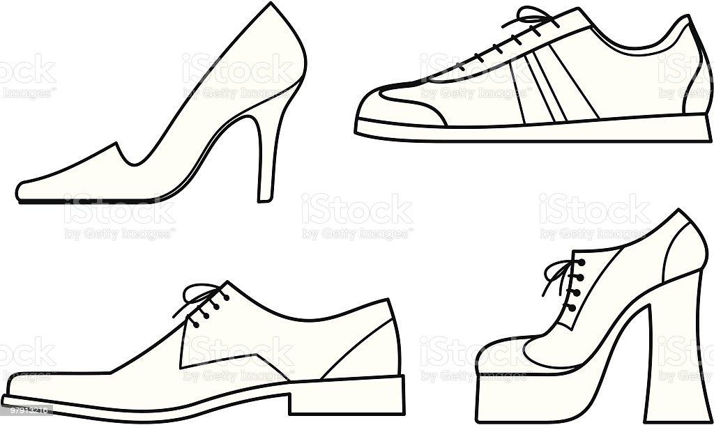 Illustration of various types of shoes royalty-free illustration of various types of shoes stock vector art & more images of canvas shoe