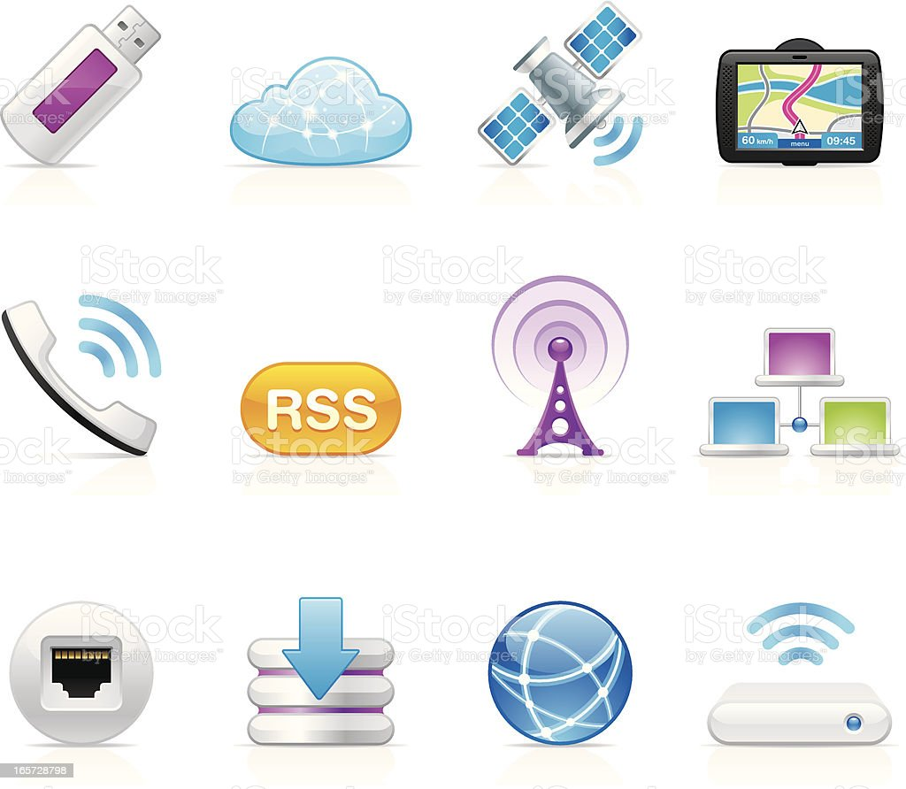 Illustration of vector icons wireless Internet royalty-free illustration of vector icons wireless internet stock vector art & more images of broadcasting