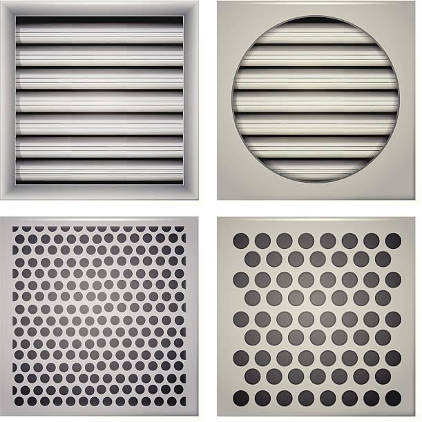 ilustrações de stock, clip art, desenhos animados e ícones de ilustração de persianas de ventilação - com portada