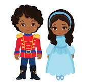Illustration of very cute boy and girl.