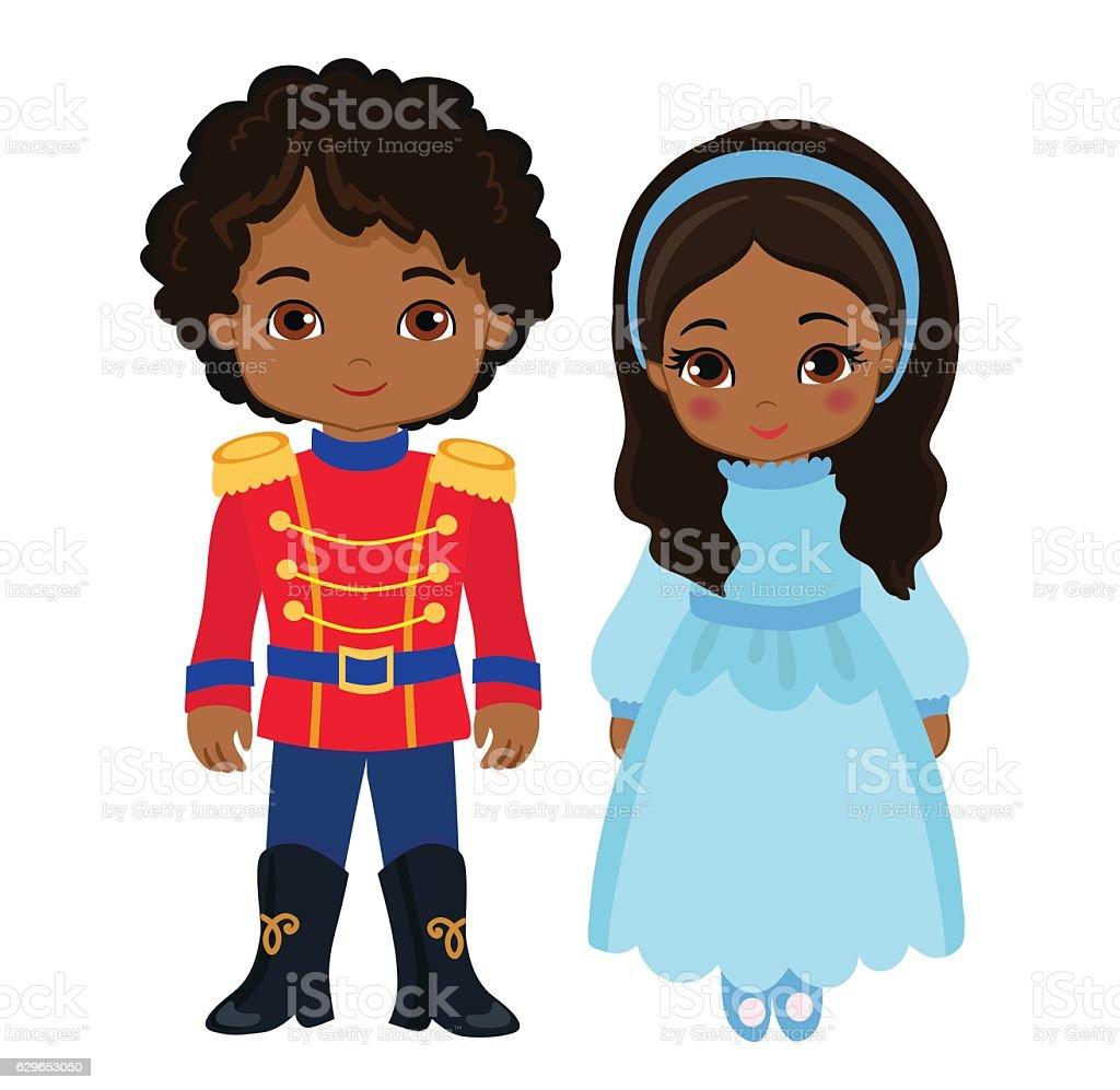 Illustration of very cute boy and girl. vector art illustration