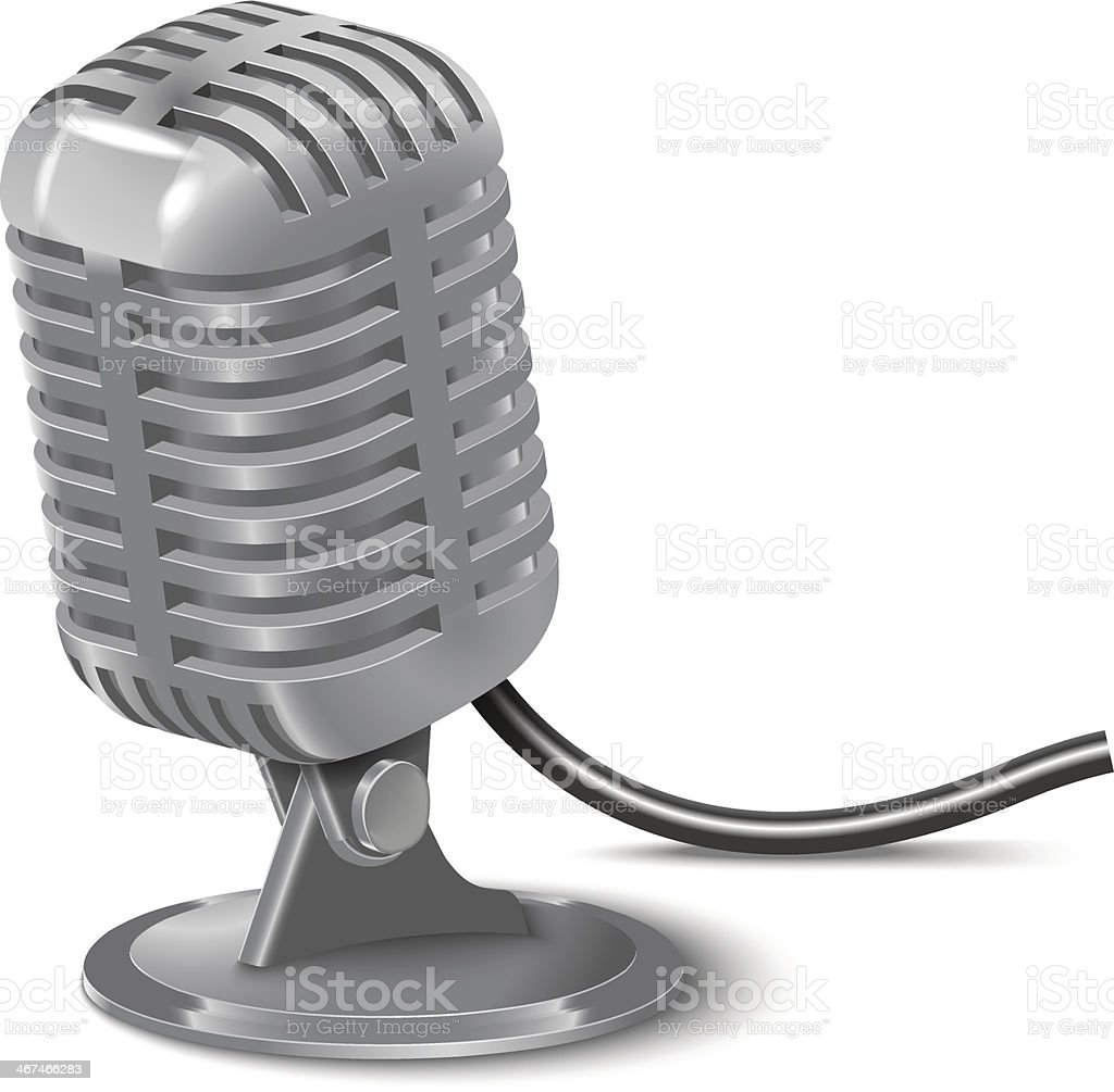 illustration of Vintage Microphone royalty-free stock vector art