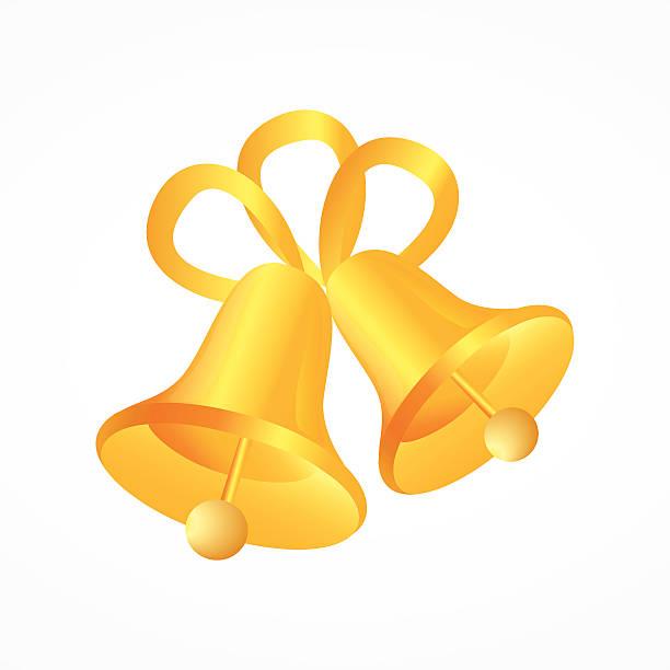 illustration von wedding bells - clipart goldene hochzeit stock-grafiken, -clipart, -cartoons und -symbole