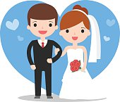 illustration of wedding couple