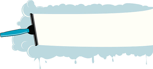 illustrations, cliparts, dessins animés et icônes de nettoyage de la fenêtre - raclette