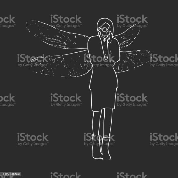 Illustration of woman dragonfly vector id1127316567?b=1&k=6&m=1127316567&s=612x612&h=pcvxyusikxdkha4qeu0 e5f0yqaquk1rkesykq mjsq=