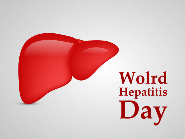 Illustration of World Hepatitis Day awareness background vector art illustration