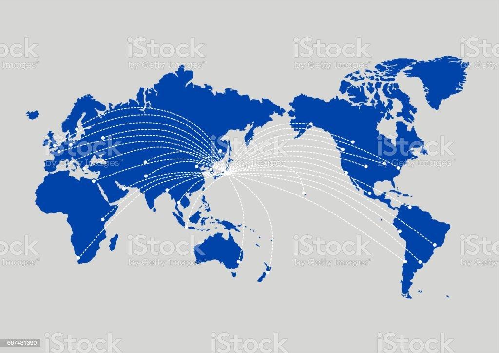 世界 map(business,Internet,globalization) のイラスト ベクターアートイラスト