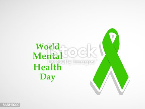 Illustration Of World Mental Health Day Background Stock Vector Art 845849000