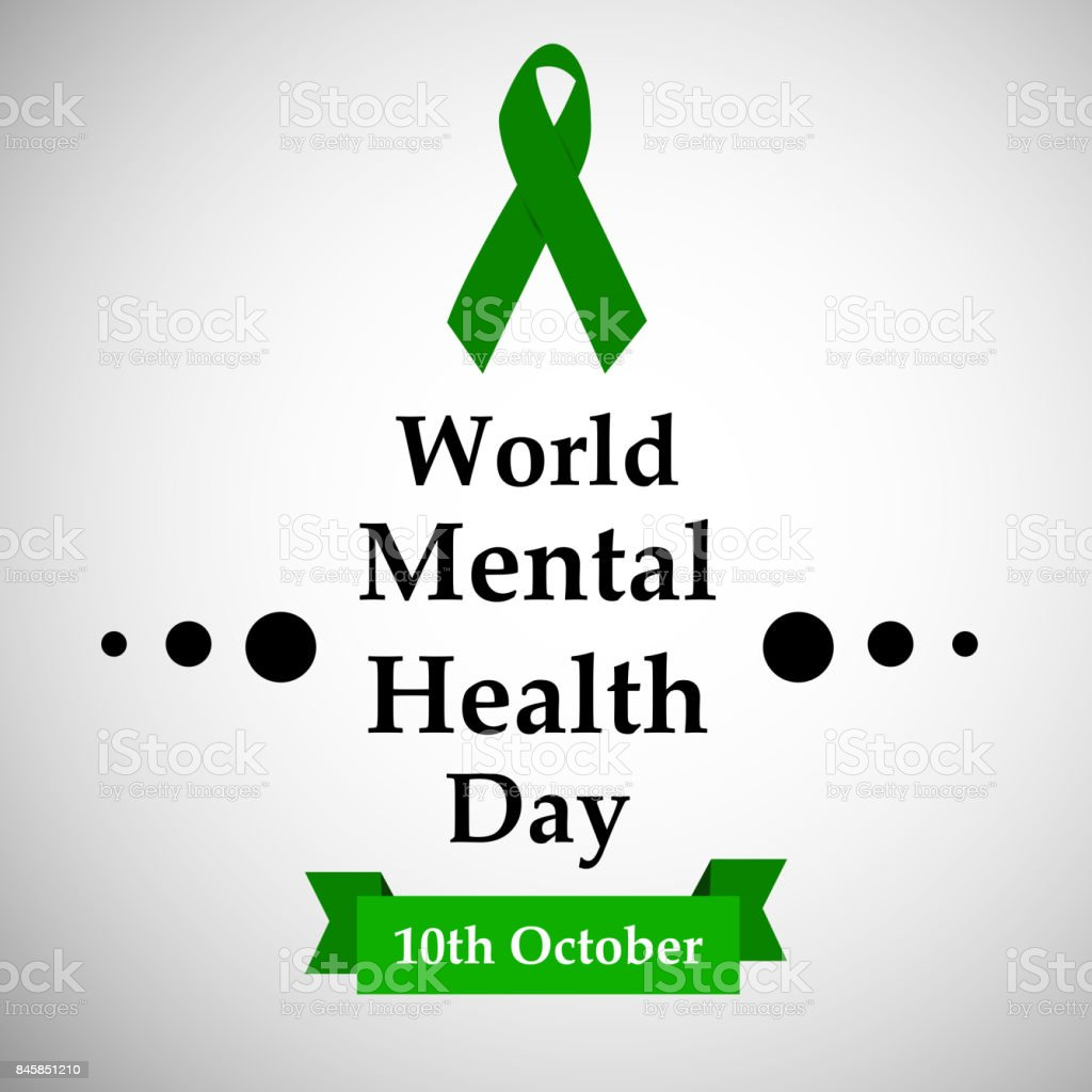Illustration Of World Mental Health Day Background Royalty Free