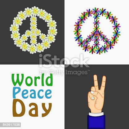 Illustration Of World Peace Day Background Stock Vector Art