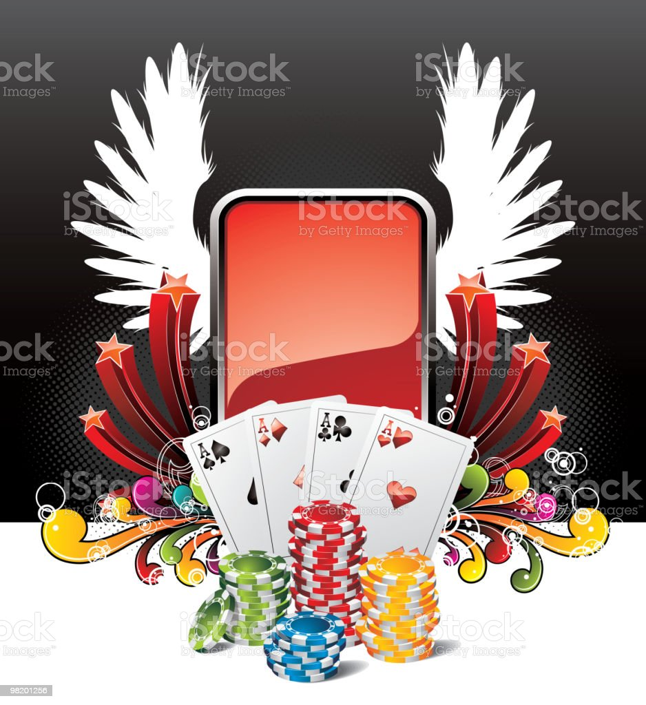 Illustration on a casino theme with playing cards. royalty-free illustration on a casino theme with playing cards stock vector art & more images of ace