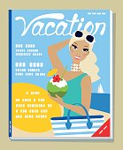Abstract travel magazine cover.