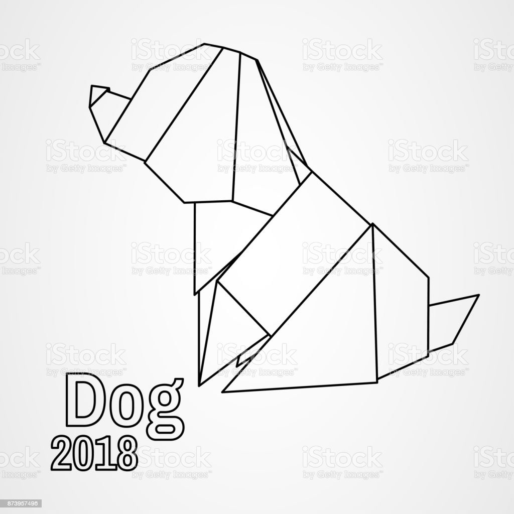 Illustration Origami Dog Royalty Free Stock Vector Art Amp More Images