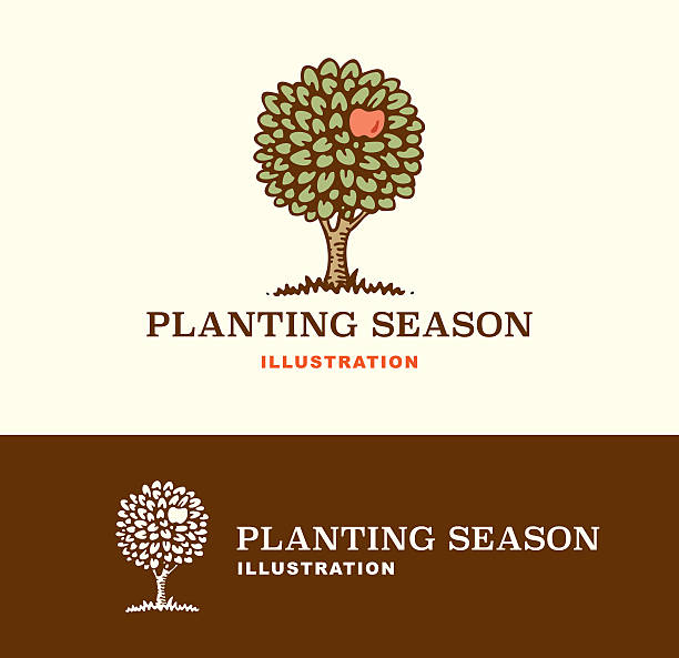 Illustration Planting Season vector art illustration