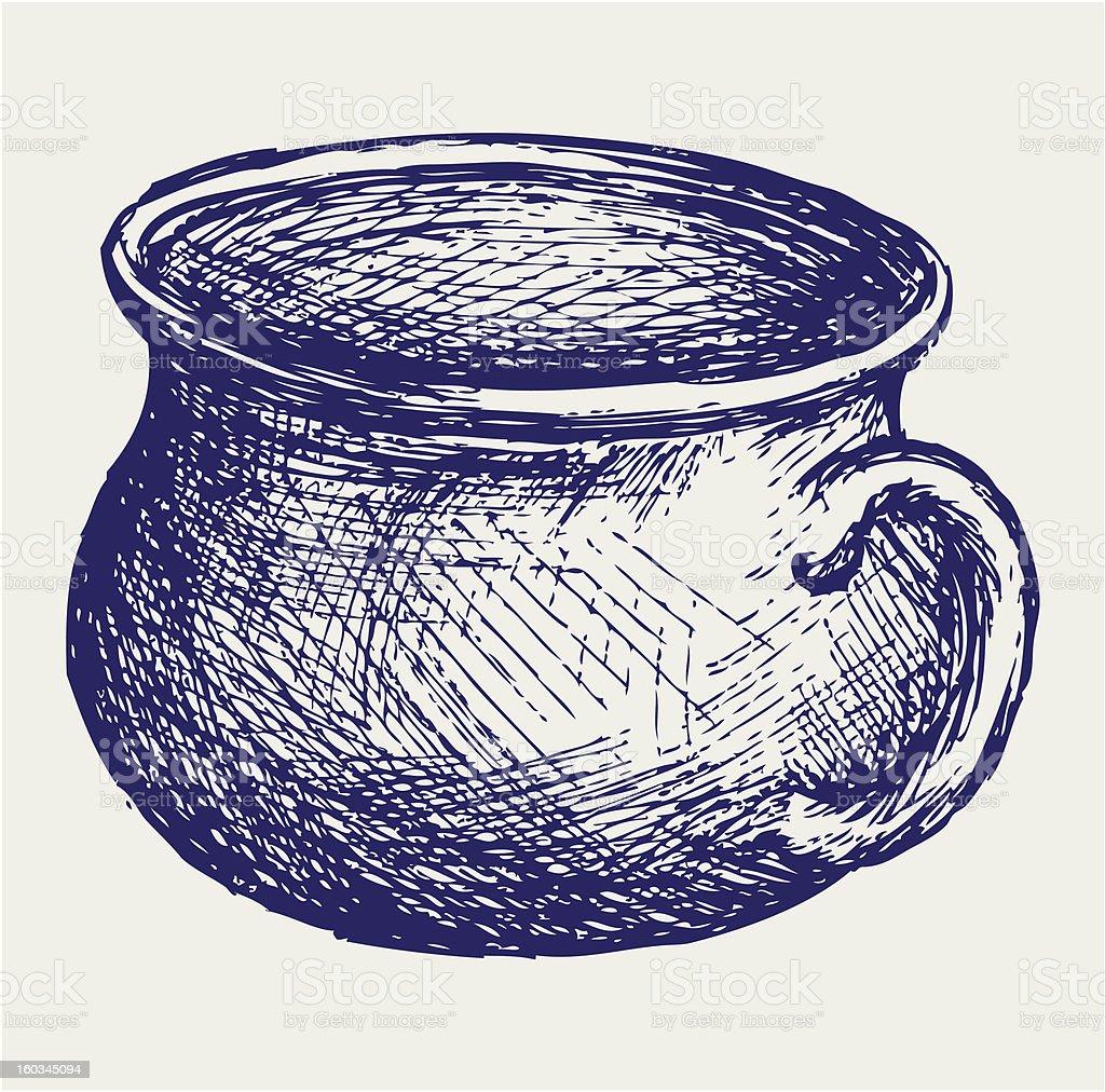 Illustration potty royalty-free stock vector art