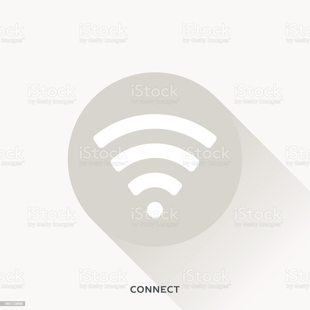 Illustration representing Wi-Fi features vector art illustration