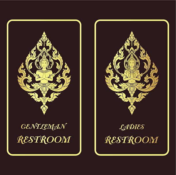 ilustracja wektorowa złoty życiowych toalety - burma home do stock illustrations
