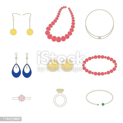 Illustration set of accessories.