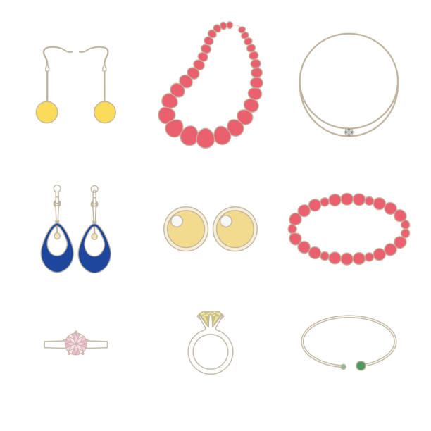 Illustration set of accessories. vector art illustration