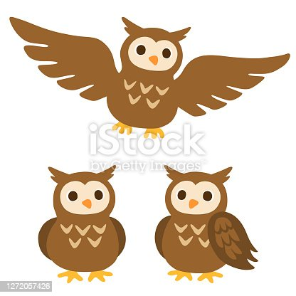 Owls Flying Through Clouds - Flying Owl Clip Art - Free Transparent PNG  Clipart Images Download