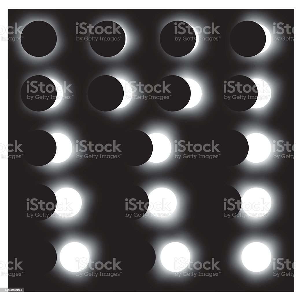Illustration showing different stages of a solar eclipse royalty-free illustration showing different stages of a solar eclipse stock vector art & more images of day