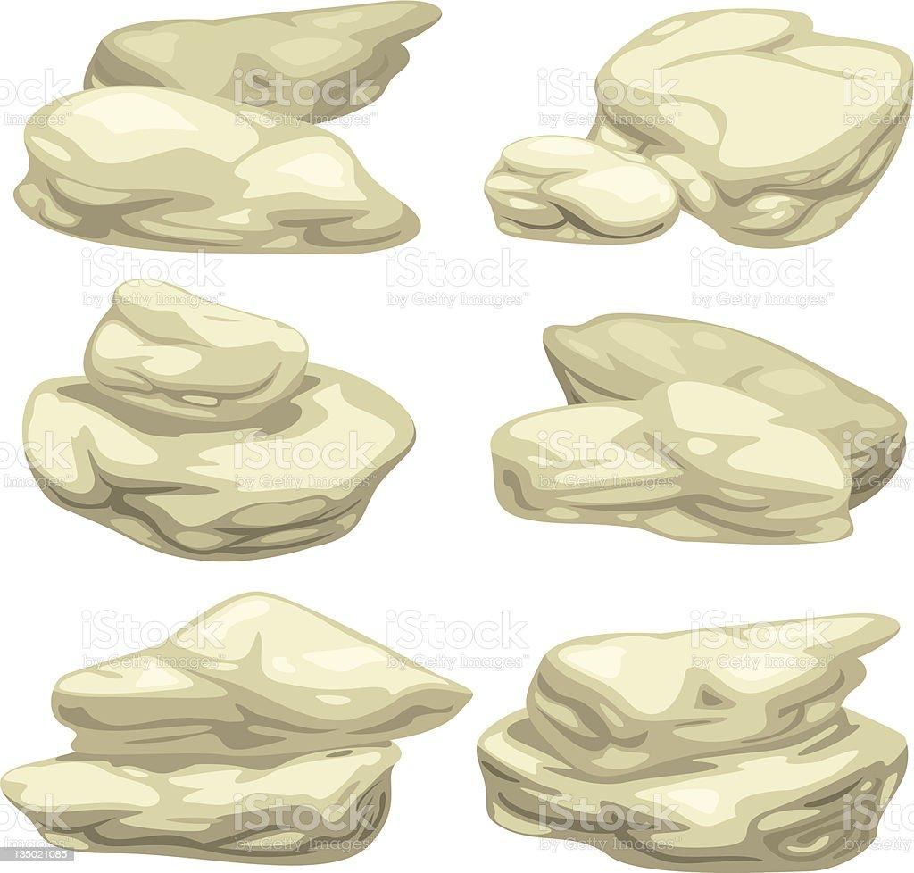 illustration stone set royalty-free stock vector art