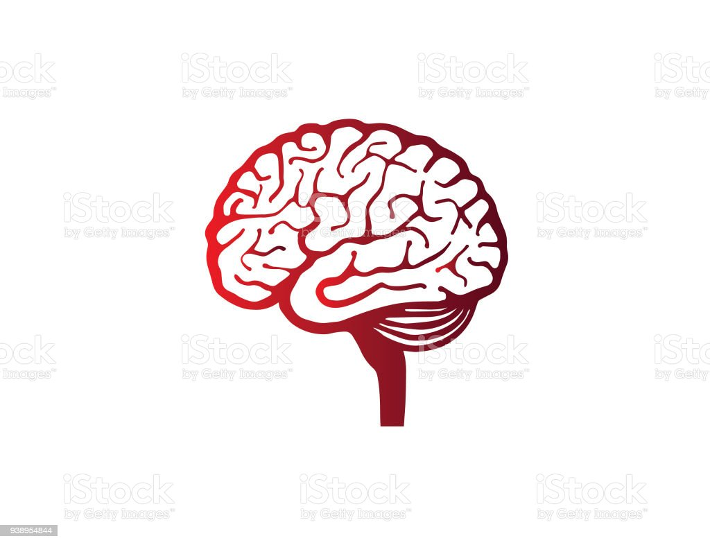 illustration symbol of human brain vector art illustration