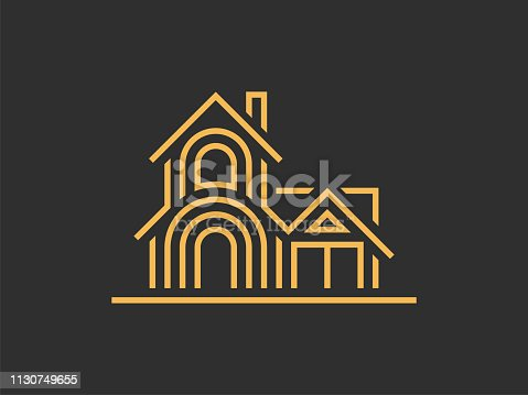 istock Illustration template of the house. Can be used for real estate, or for a hotel. Vector format. 1130749655