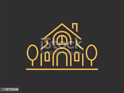 istock Illustration template of the house. Can be used for real estate, or for a hotel. Vector format. 1130750346