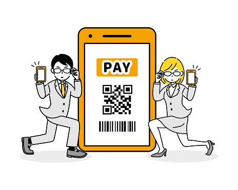 Illustration to pay with a smartphone.