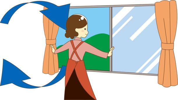 illustration zum lüften - lüften stock-grafiken, -clipart, -cartoons und -symbole
