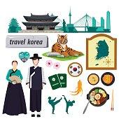 illustration. travel Korea.