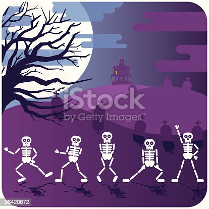 istock SKELETONS DANCING THRILLER illustration vector cartoon 96420672