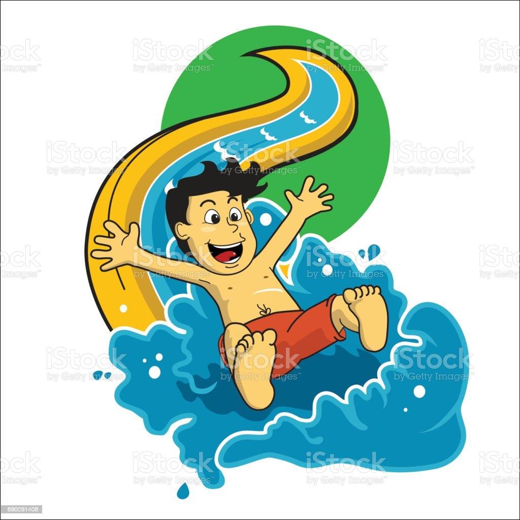 royalty free water slide clip art vector images illustrations rh istockphoto com water slide clip art images Water Park Slides Clip Art