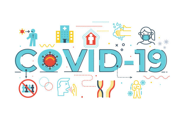 COVID-19 illustration vector art illustration