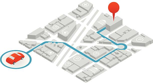 GPS Illustration vector art illustration