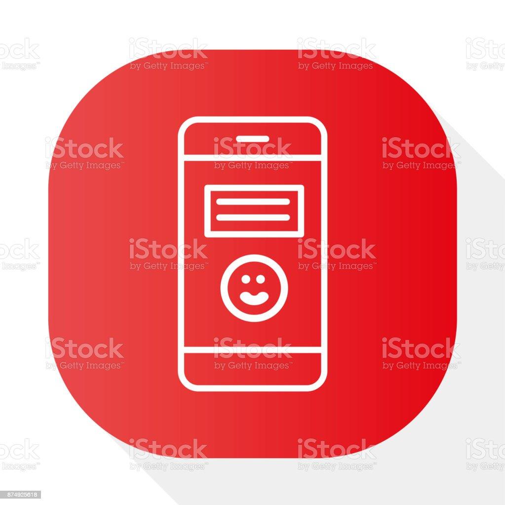 PHONE SMILE EMOTION - Illustration vector art illustration