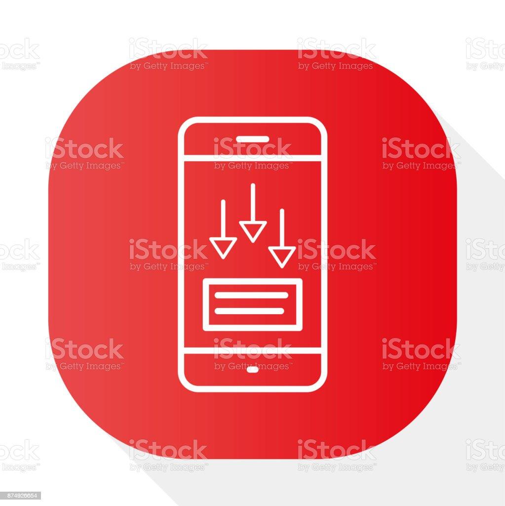 TELEPHONE, INCOMING MESSAGE - Illustration vector art illustration