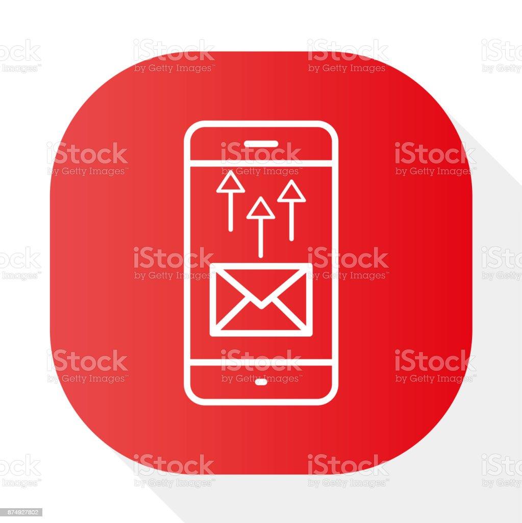 PHONE, MESSAGE INQUIRY - Illustration vector art illustration