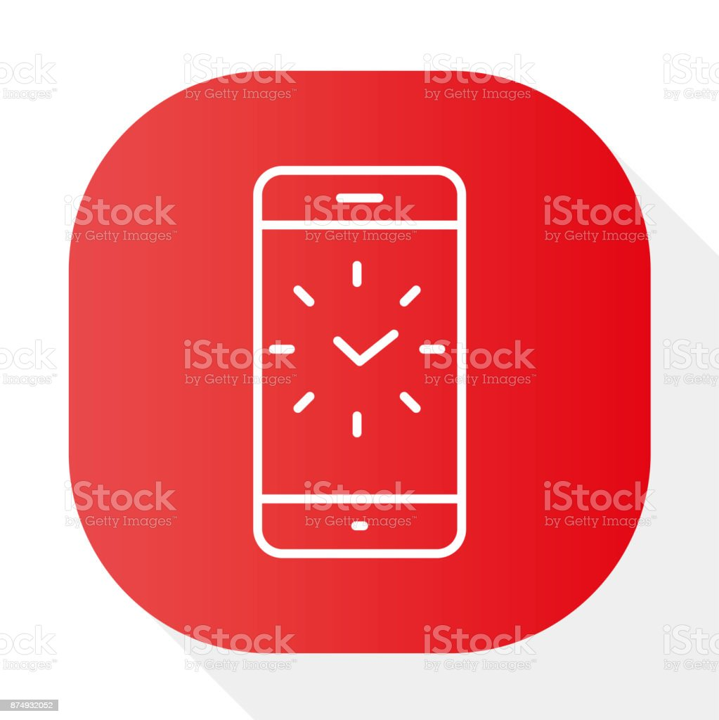 PHONE, CLOCK ICK - Illustration vector art illustration