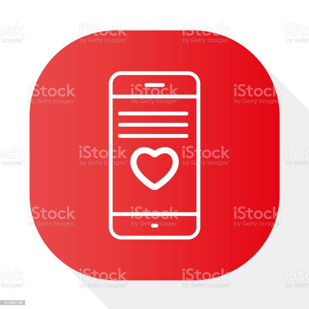 PHONE LOVE - Illustration vector art illustration